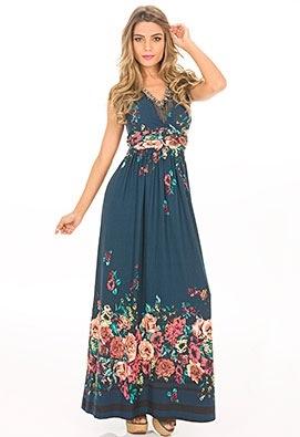 vestidos longos de malha 4 - VESTIDOS LONGOS DE MALHA fria lindos e muito confortáveis