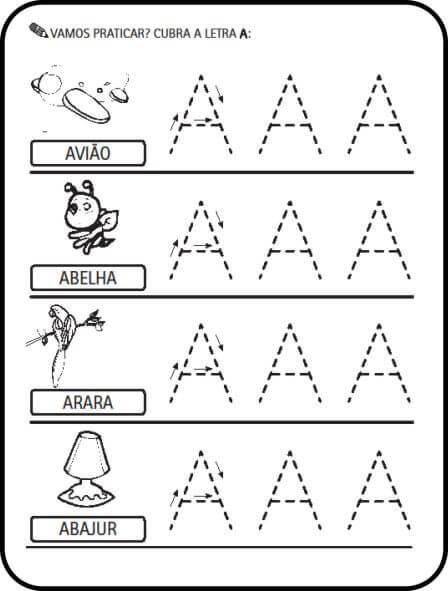 alfabeto atividades letra a - Atividades letras do Alfabeto para colorir para aprendizado