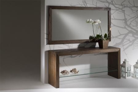 aparador com espelho de madeira