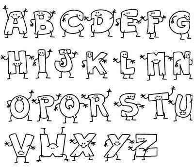 atividades do alfabeto para colorir letrinhas com vida - Atividades letras do Alfabeto para colorir para aprendizado