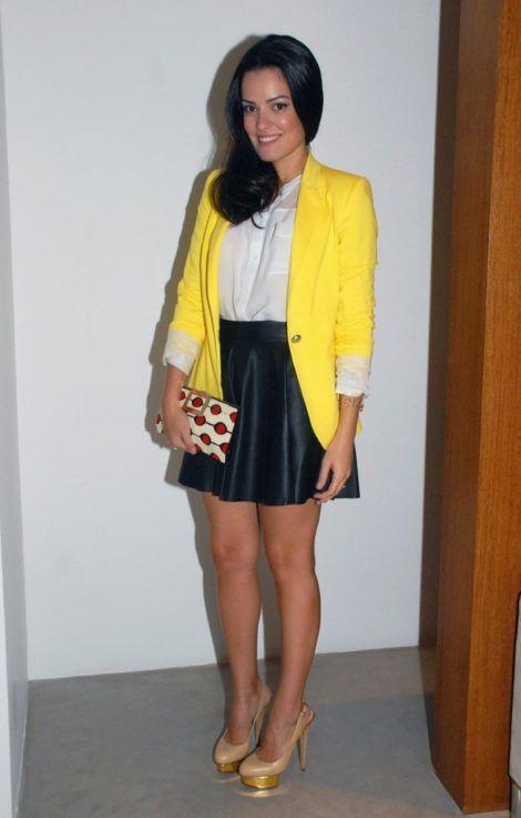 blazer feminino com saia 3 470x737 - Como usar BLAZER FEMININO com saia, calça