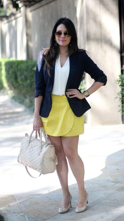 blazer feminino com saia 7 470x836 - Como usar BLAZER FEMININO com saia, calça