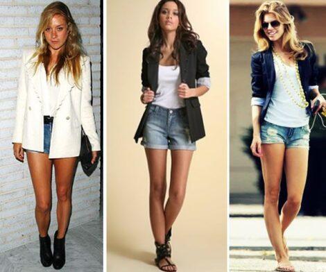 blazer feminino com shorts 1 470x392 - Como usar BLAZER FEMININO com saia, calça