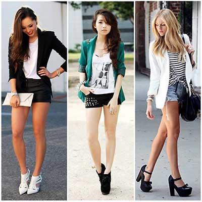 blazer feminino com shorts 2 - Como usar BLAZER FEMININO com saia, calça
