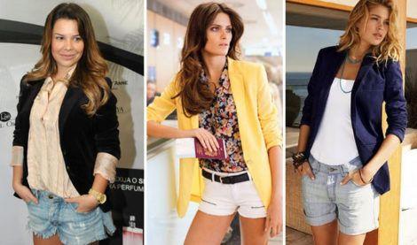 blazer feminino com shorts 3 470x277 - Como usar BLAZER FEMININO com saia, calça