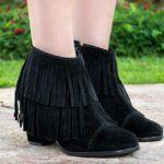 botinhas femininas com franjas 150x150 - Botinha feminina com franja : Com saia, vestido e calça jeans (Veja como usar)
