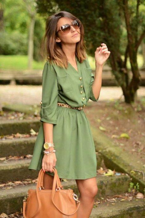 chemise verde 470x709 - VESTIDO CHEMISE modelitos perfeitos para o verão