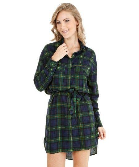 chemise xadrez vestido - VESTIDO CHEMISE modelitos perfeitos para o verão