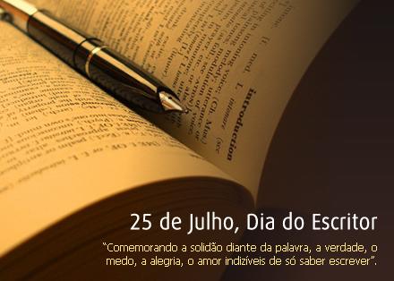 dia do escritor 2 - Dia do Escritor em 25 de julho confira