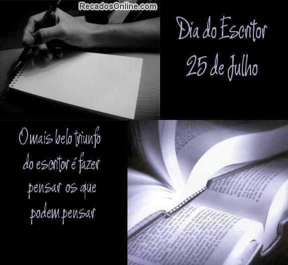dia do escritor frases 2 - Dia do Escritor em 25 de julho confira