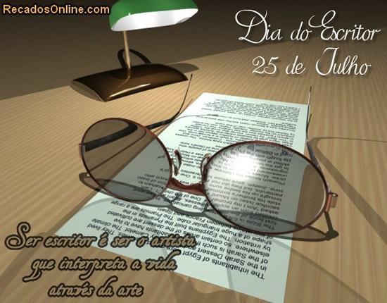 dia do escritor mensagem 2 - Dia do Escritor em 25 de julho confira