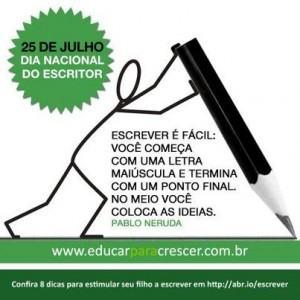 dia do escritor no brasil 2 - Dia do Escritor em 25 de julho confira