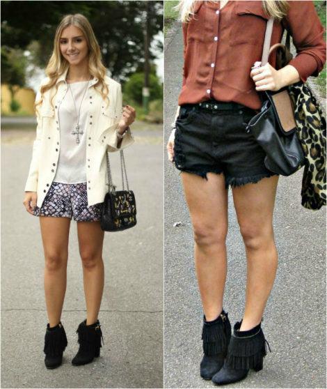 imagem 16 470x558 - Botinha feminina com franja : Com saia, vestido e calça jeans (Veja como usar)