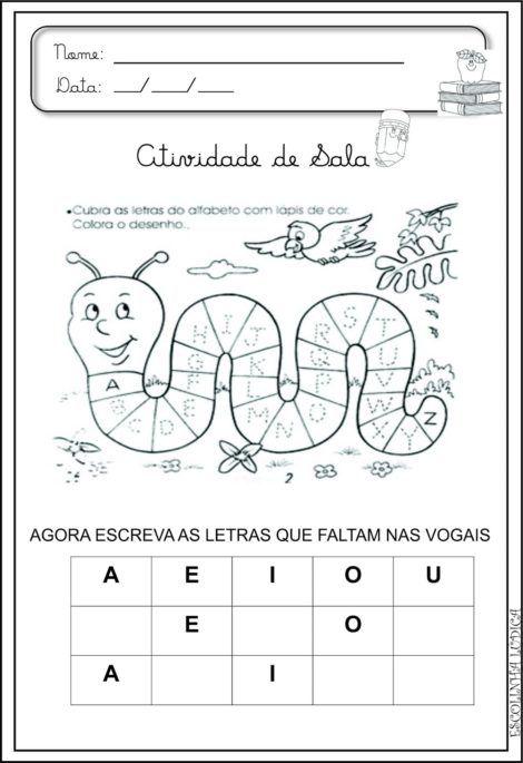 imagem 18 5 470x685 - Atividades de ALFABETIZAÇÃO COM VOGAIS - aprenda as letras