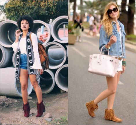 imagem 20 470x434 - Botinha feminina com franja : Com saia, vestido e calça jeans (Veja como usar)