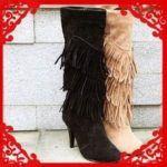 imagens de botinhas femininas com franjas 150x150 - Botinha feminina com franja : Com saia, vestido e calça jeans (Veja como usar)