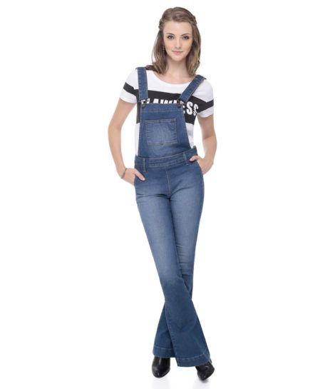macacao feminino jeans 2 470x545 - Macacão feminino 2018 super na moda ( Veja os looks )