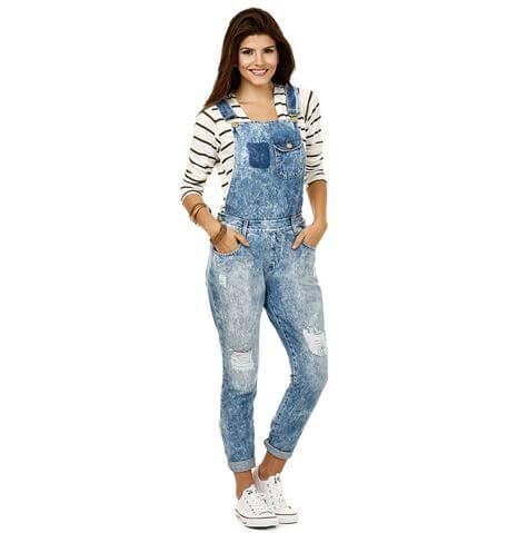 macacao feminino jeans 3 - Macacão feminino 2018 super na moda ( Veja os looks )