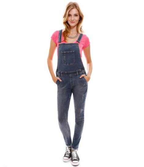 macacao feminino jeans 4 470x545 - Macacão feminino 2018 super na moda ( Veja os looks )