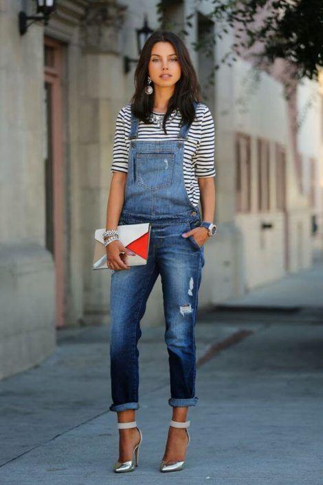 macacao feminino jeans 5 470x705 - Macacão feminino 2018 super na moda ( Veja os looks )
