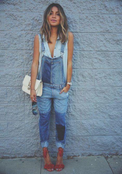 macacao feminino jeans 7 470x670 - Macacão feminino 2018 super na moda ( Veja os looks )