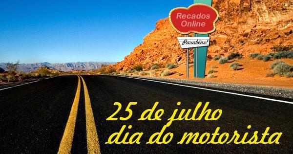 mensagens para dia do motorista brasil para facebook 1 - Dia do Motorista no Brasil 25 de julho padroeiro São Cristóvão