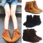 modelos de botinhas femininas com franjas 150x150 - Botinha feminina com franja : Com saia, vestido e calça jeans (Veja como usar)