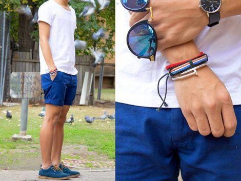 sapato camurca azul e bermuda 470x353 - Como usar SAPATO DE CAMURÇA MASCULINO: com calça e bermuda