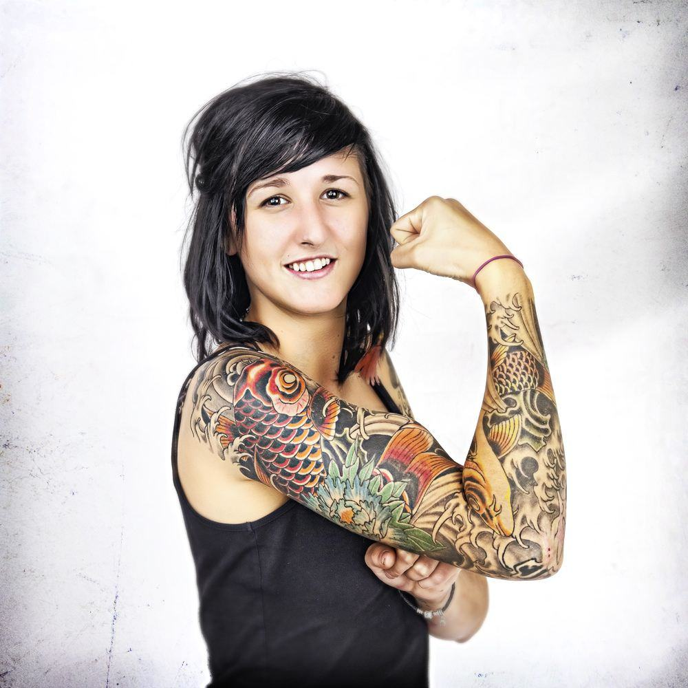 Cool female celebrity tattoos arms