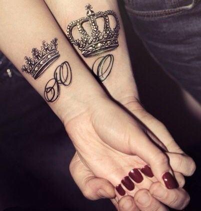tatuagens de casal coroas - TATUAGENS DE CASAL lindas que se completam