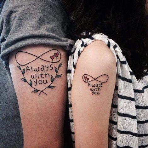 tatuagens de casal no braco 470x470 - TATUAGENS DE CASAL lindas que se completam
