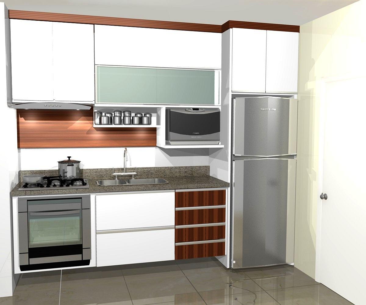 Como decorar cozinha planejada de apartamento com mesa - Imagenes de cocinas pequenas para apartamentos ...