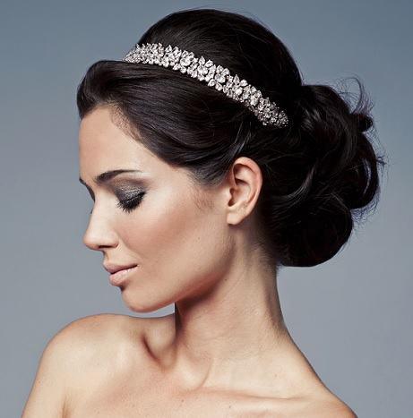 penteado para noiva com coque - PENTEADOS PARA NOIVAS tiaras, coques, cabelos soltos, arranjos