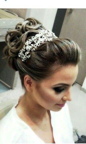 penteados para noivas - PENTEADOS PARA NOIVAS tiaras, coques, cabelos soltos, arranjos