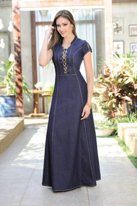 vestidos evangelicos jeans 4 470x706 - Como usar os VESTIDOS EVANGÉLICOS JEANS e esporte fino