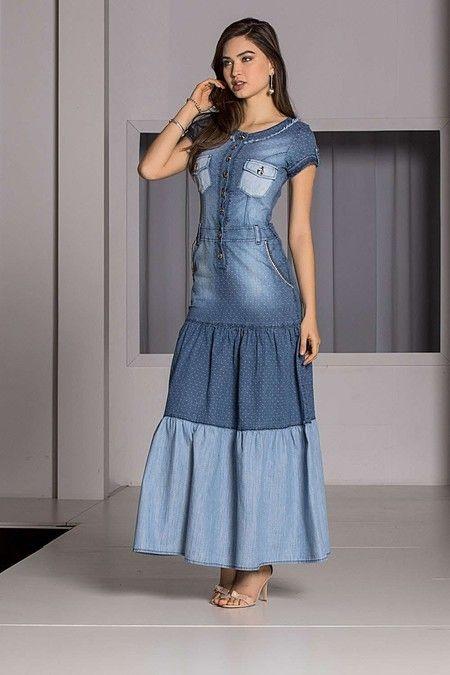 vestidos evangelicos jeans 6 - Como usar os VESTIDOS EVANGÉLICOS JEANS e esporte fino