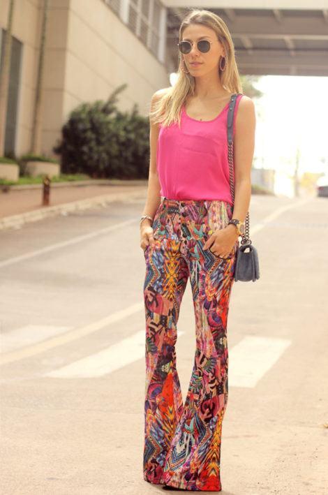 calca flare estampada 470x709 - CALÇA FEMININA ESTAMPADA de verão lindas e modernas