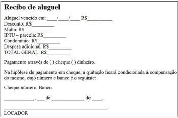 melhores modelos de recibo de aluguel 350x231 - Modelos de Recibo de Aluguel para imprimir