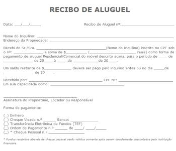 modelos de recibo de aluguel 350x301 - Modelos de Recibo de Aluguel para imprimir