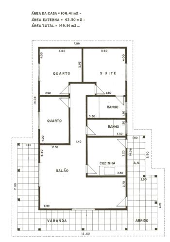 planta sobrado 3 quartos terreno 5x25 para imprimir 350x498 - Modelos de Planta sobrado 3 quartos terreno  5X25