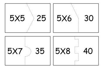 tabuada do 5 para imprimir e recortar 350x242 - Tabuada do 5 para imprimir colorir e estudar