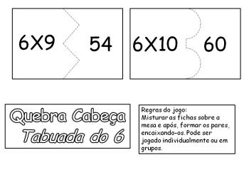tabuada do 6 para imprimir 350x242 - Tabuada do 6 para imprimir confira e pegue