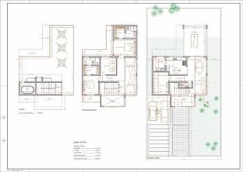 tipos de planta de sobrado com 3 pisos 350x247 - Planta de sobrado com 3 pisos perfeitas para terrenos mais estreitos