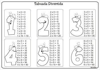 tipos de tabuada do 6 para colorir 350x247 - Tabuada do 6 para colorir e aprender brincando