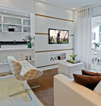 bela sala decorada de apartamento 350x367 - Sala decorada de apartamento veja como ter um ambiente agradável
