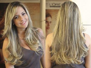 dicas para cabelos castanhos escuros com luzes platinadas