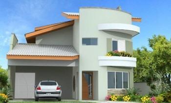 fachadas de sobrados com varandas modernas
