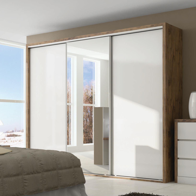 Guarda roupas 3 portas com espelho modelos modernos com for Modelos de armarios modernos