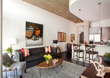 imagem 14 470x332 - Sala decorada de apartamento veja como ter um ambiente agradável