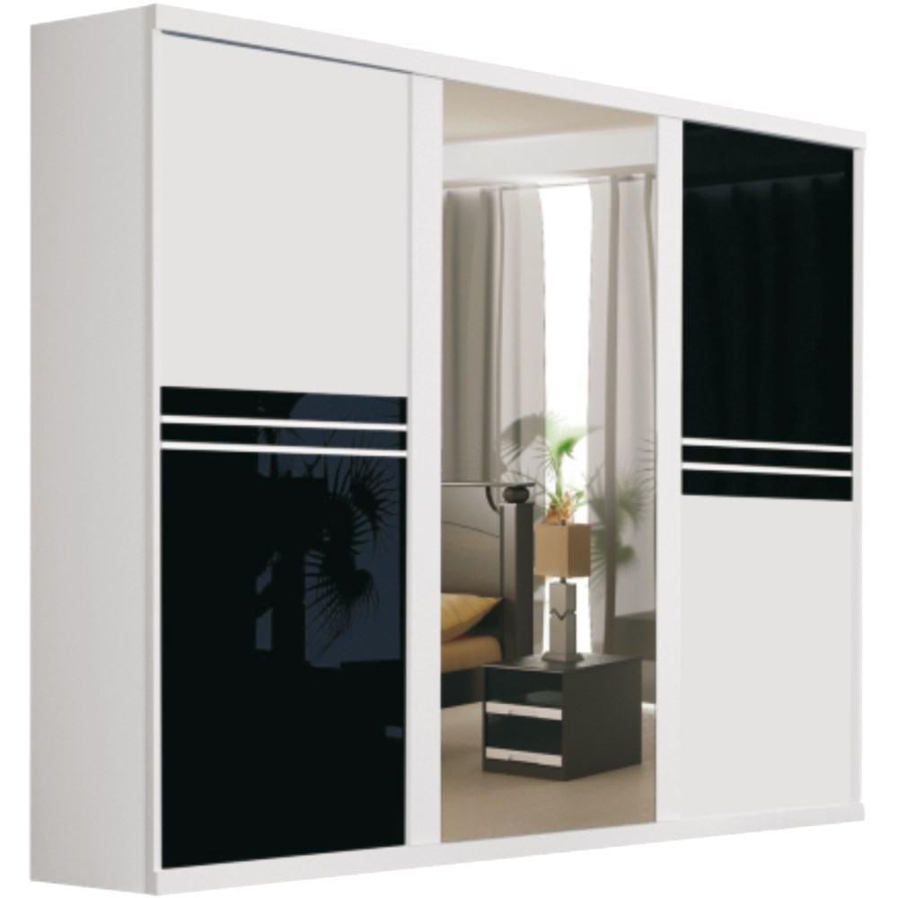 Guarda roupas 3 portas com espelho modelos modernos com for Modelos de zapateros modernos
